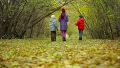 Three In Park Stock Footage