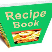 Recipe book for cookery or preparing food Stock Illustration