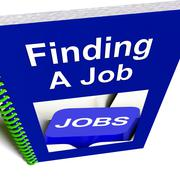Stock Illustration of finding a job book for career advice