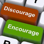 Discourage or encourage keys to motivate or deter Stock Illustration