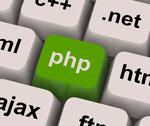 Stock Illustration of php programming key shows internet development language