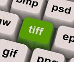 Stock Illustration of tiff key shows image format for tif pictures