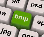 Stock Illustration of bmp key shows bitmap format for images