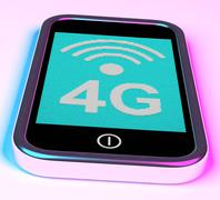 4g internet connection on mobile phone Stock Illustration