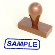 sample stamp shows examples symbol or taste - stock illustration