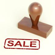 Stock Illustration of sale rubber stamp showing promotion and reduction