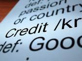 Credit definition closeup showing cashless payment Stock Illustration