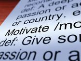 Stock Illustration of motivate definition closeup showing positive encouragement