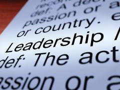 leadership definition closeup showing achievement - stock illustration