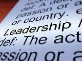 Leadership definition closeup showing achievement Stock Illustration