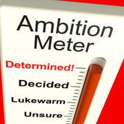ambition meter showing motivation and drive - stock illustration