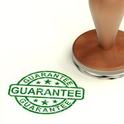guarantee stamp shows assurance and risk free - stock illustration
