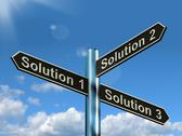 Stock Illustration of solution 1 2 or 3 choice showing strategy options decisions or solving
