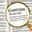 Stock Illustration of exercise definition magnifier showing fitness activity and working out