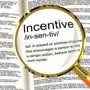 incentive definition magnifier showing encouragement enticing and motivation - stock illustration
