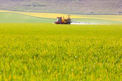 Crop sprayer in a field Stock Photos