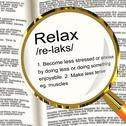 Relax definition magnifier showing less stress and tense Stock Illustration
