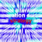 Strategia sana osoittaa suunnittelu ja visio acheive tavoitteet Piirros
