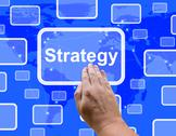 Stock Illustration of strategy button showing planning and vision to acheive goals