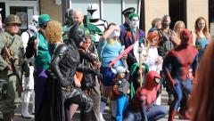 HD Stock Footage - Comic Con several posing Stock Footage