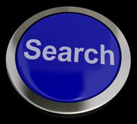 Search button showing internet access and online research Stock Illustration