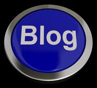 Blog button in blue for blogger or blogging website Stock Illustration