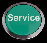 service button showing help support and assistance - stock illustration