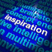 inspiration word showing positive thinking and encouragement - stock illustration
