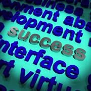 Success word showing achievement vision and determination Stock Illustration