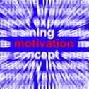 Stock Illustration of motivation word showing positive encouragement and determination