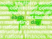 Stock Illustration of earth day words showing environmental concern and conservation