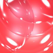 Light streaks on red bubbles for dramatic background Stock Illustration