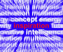 inspiration word zooming showing positive thinking and encouragement - stock illustration