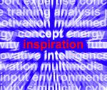 Inspiration word zooming showing positive thinking and encouragement Stock Illustration