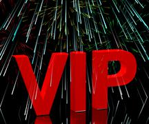 vip word with fireworks showing celebrity or millionaire party - stock illustration