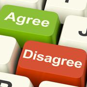 Disagree and agree keys for online poll or voting Stock Illustration