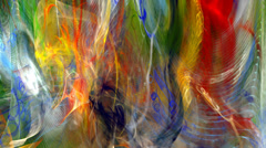 Abstract multicolored palette texture motion background seamless looping fractal Stock Footage