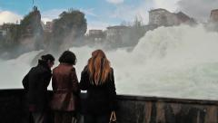 Rhine waterfall 4 Stock Footage