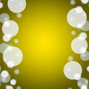 Stock Illustration of yellow bokeh background with blank copy space and border