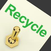 Stock Illustration of recycle switch showing recycling and eco friendly