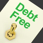 Debt free switch showing recovery from poverty and being broke Stock Illustration