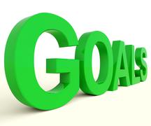 Goals word showing objectives hope and future Stock Illustration