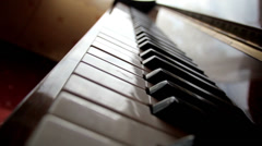 Closer view of the piano keys Stock Footage