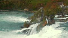 Rhine waterfall 1 Stock Footage