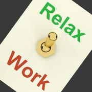 Stock Illustration of relax switch on showing relaxing and recreation