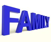 Stock Illustration of family word as symbol of parenthood and togetherness