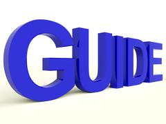 Guide word as symbol for guidance or training Stock Illustration