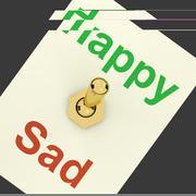 Happy sad kytkin osoittaa, että onnellisuus on tärkeää Piirros