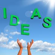 Stock Illustration of catching ideas word showing concept or creativity