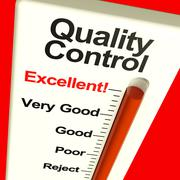 quality control excellent monitor showing satisfaction and perfection - stock illustration